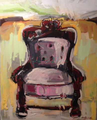 Grandpas-Chair-40-x40-industrial-acrylic-and-charcoal-2014