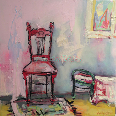 Hill-End-Chair-18×18-Acrylic-Charcoal-2014