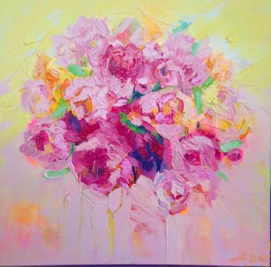 peonies-acrylic-Loretta-Blake